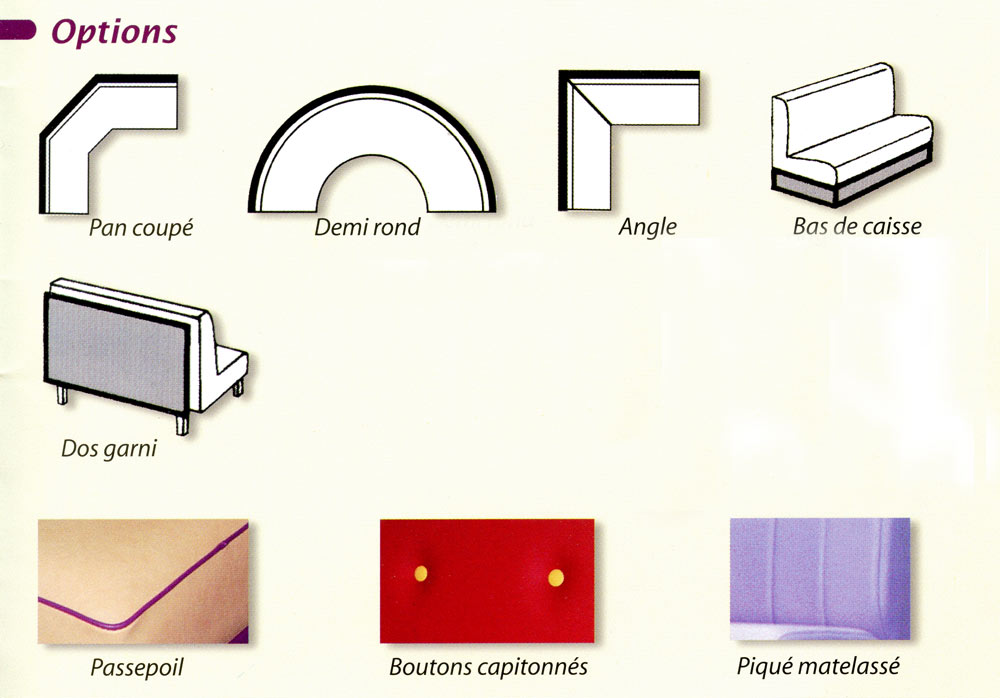 Options banquettes